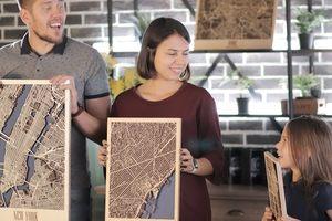 Украинцы собрали 56 тысяч долларов на Kickstarter на деревянные 3D-карты городов мира
