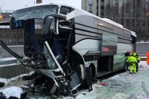В Швейцарии автобус влетел в стену: один человек погиб, 44 пострадали