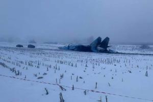 В Житомирской области разбился истребитель Су-27: первые фото катастрофы