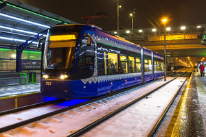 Скоростной трамвай на Борщаговке будут ремонтировать на день дольше
