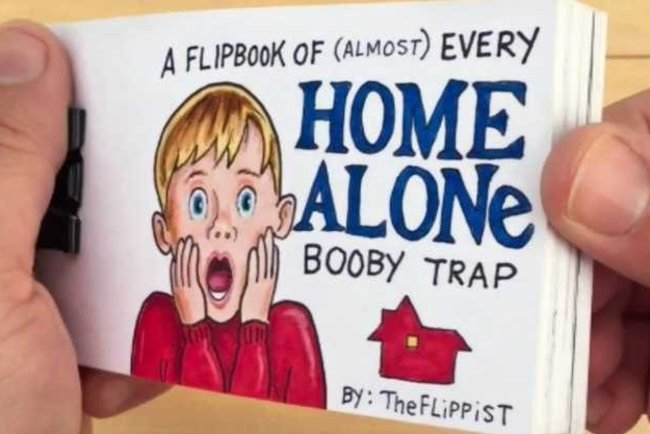 Film Alone at home turned into a cartoon video watch online