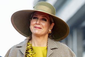 В горчичном платье и сетчатых перчатках: эффектный выход королевы Нидерландов