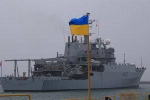 Корабль ВМС Великобритании прибыл в Одессу