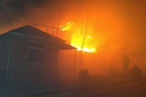 Мощный пожар в Запорожской области: погибли два человека