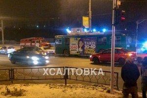 В Харькове на ходу задымился троллейбус