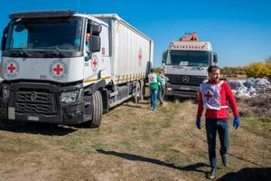 Красный Крест привез в ОРДЛО 150 тонн гуманитарной помощи