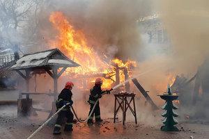 Пожар на рождественской ярмарке во Львове: появилось видео момента  взрыва