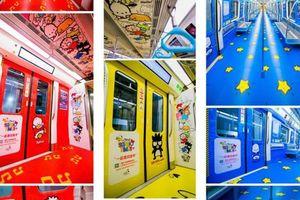 В Китае запустили поезд метро с HelloKitty, крутым пингвином и яичным желтком