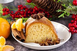 Как приготовить новогодний кекс с мандаринами и сухофруктами