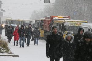 Погода в Киеве: выпадет снег и пройдет метель
