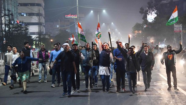 Протесты в Индии. Фото: AFP