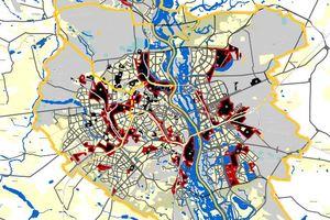 Черные пятна на карте Киева
