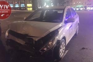 На площади Победы в Киеве столкнулись BMW и Hyundai