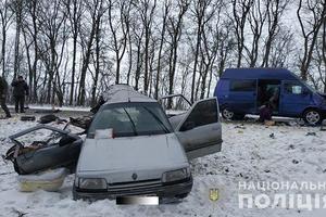 На трассе Львов-Тернополь столкнулись легковушка и микроавтобус