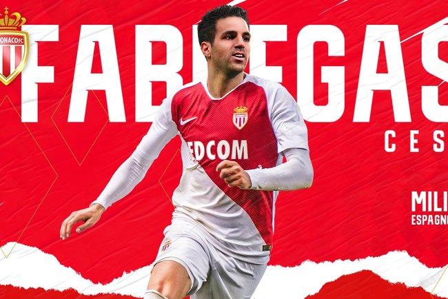 Официально: Сеск Фабрегас стал игроком 'Монако'