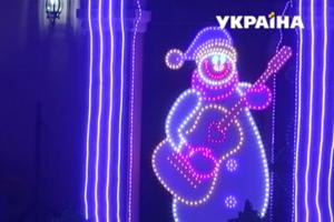 В Ровенской области семья удивила соседей и туристов световым шоу