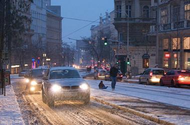 фото снег в польше сегодня