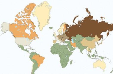 Появилась карта вымирания человечества