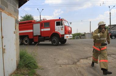 В Киеве горят гаражи