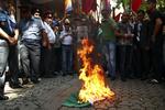 В Ереване проходят акции против Венгрии