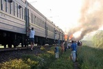 Во время следования курортного поезда Москва - Евпатория вспыхнул пожар.  Благодаря сознательности туристов и...