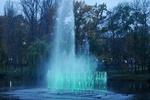 В киевском парке радостно забил струей новый фонтан