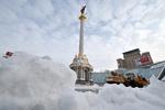 В Киеве из-за снегопадов объявлена чрезвычайная ситуация