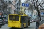 В центре Киева застряли троллейбусы