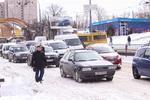 Киев стоит в девятибалльных пробках