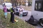 Из киевской маршрутки на ходу выпала женщина