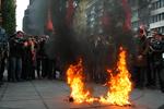 Коммунисты сожгли флаги УПА в центре Киева