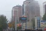 В Сети появилось видео масштабного пожара в элитной многоэтажке Донецка