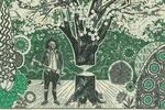 Художник делает картины из настоящих долларов