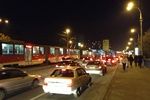 Пьяные пассажиры в час пик заблокировали движение киевских трамваев