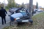"""В Одессе водитель """"Фольксвагена"""" разбился насмерть, влетев в столб"""