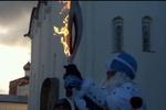Как олимпийский факел вспыхнул в руках Деда Мороза
