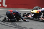 Как Себастьян Феттель праздновал победу в чемпионате Формулы-1