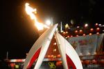 Олимпийский огонь в Петербурге погас в руках министра
