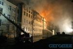 Пожар в Аграрном университете потушили