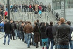 В Киеве километровые очереди - начали выдавать билеты на матч Украина - Франция