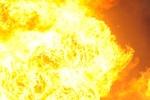В Киеве горел огромный ангар