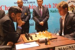 Ананд и Карлсен сыграли вничью, норвежец сохранил отрыв