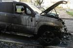 На Закарпатье сожгли джип крупного милицейского чиновника