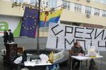 На днепропетровском Евромайдане - первые провокации
