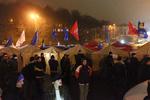 """Ночной Евромайдан под проливным дождем: радостные украинцы и грустный """"Беркут"""""""