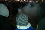 На Евромайдане поймали провокатора с дымовой шашкой