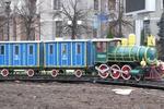 В Харькове на вокзале появился новогодний поезд