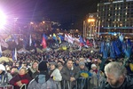 На Европейской площади снова заблокировано движение