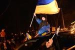 Полсотни автомобилей с флагами ЕС курсируют возле Майдана