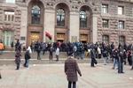 В КГГА жалуются, что протестующие вынесли компьютеры и разбросали вещи